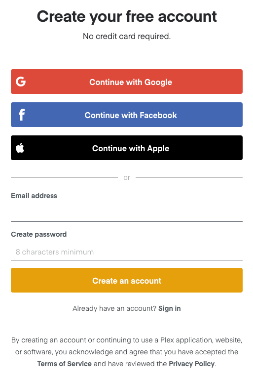 Plex Accounts Plex Support