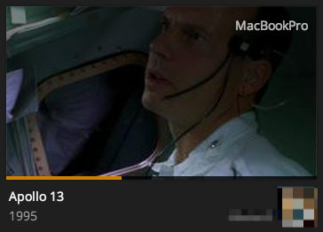 Index images displayed during Now Playing in Plex Web App